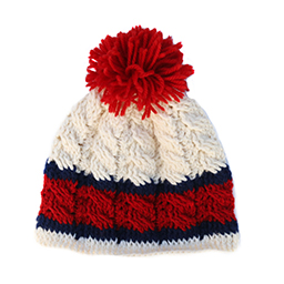 betty-louise-studio-thick-stripe-hat-navy-and-red-red-pom-po