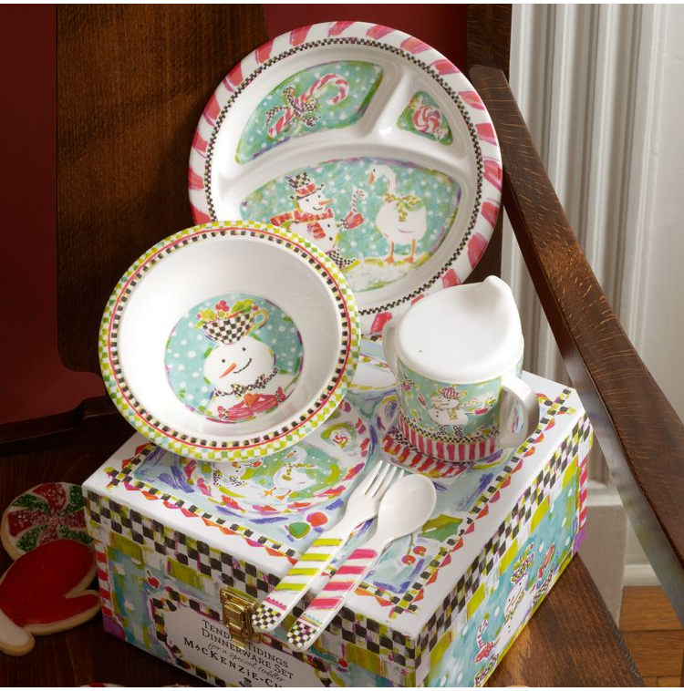 If you have little ones coming for Christmas the Toddler\u0027s Tender Tidings Dinnerware Set from McKenzie-Childs is a great way to make meals festive and fun. & Christmas for Kids | Sincerely Gifted